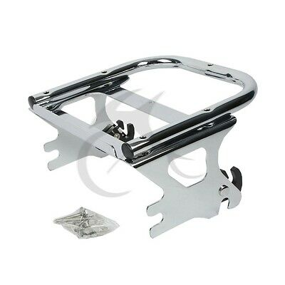 Detachable 2-UP Luggage Rack For Harley Touring Road King FLHT FLHX FLTR 97-08