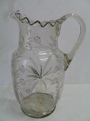 Antique Edwardian Glass Water Jug ...