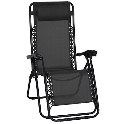 Textoline Reclining Folding Chair Sun Lounger Beach Bed Garden Recliner Camping