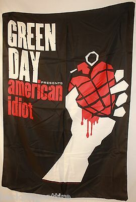 "Green Day American Idiot 29X43"" (75X110cm) Cloth Poster Flag Fabric Tapestry-New"