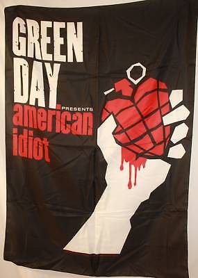 Green Day Greenday American Idiot Cloth Poster Flag Fabric Wall Banner-New!