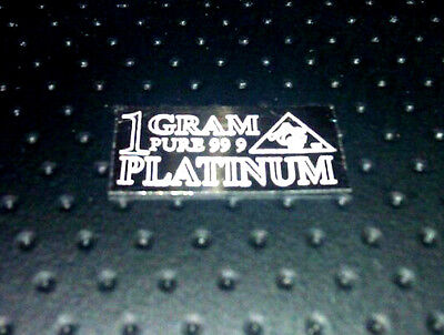 ACB PLATINUM  1 GRAM! PT Precious Metal SOLID BULLION MINTED BAR 99.9 FINE