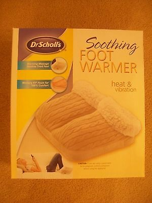 NEW IN BOX~DR SCHOLLS~SOOTHING~FOOT WARMER~HEAT & VIBRATION~TAN