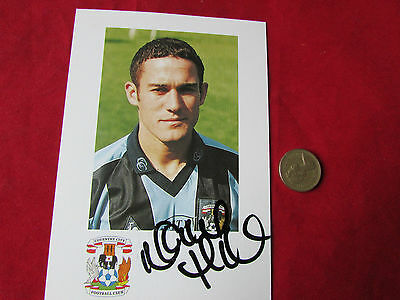 Unidentified  COVENTRY  City  Player ORIGINAL Hand Signed FOOTBALL Photo