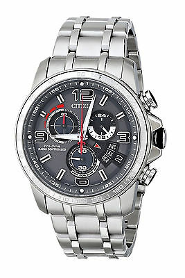 CITIZEN Eco-Drive BY0100-51H Chrono-Time AT Atomic World Stainless Watch