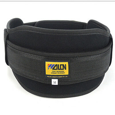 Neoprene Weight Lifting Belt Gym Fitness Lower Lumbar Back Support Training Wide