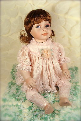 """Collectible Porcelain Doll """"Emily"""" The Hamilton Collection 1997 numbered 6918A"""