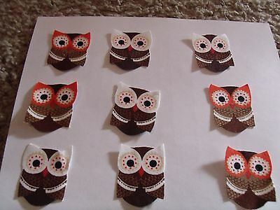 9 Woodsy Owls Iron on Fabric Appliques