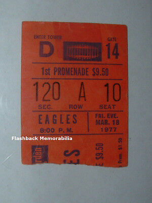 EAGLES / JIMMY BUFFETT 1977 Concert Ticket Stub MADISON SQUARE GARDEN Ron Wood