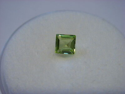 Peridot Princess Cut 3.5mm x 3.5mm Gemstone 0.28 Carats Natural Gem