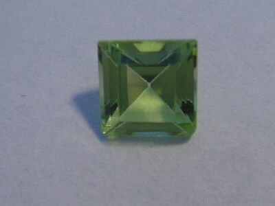 Peridot Princess Cut 4mm x 4mm Gemstone 0.30 Carats Natural Gem