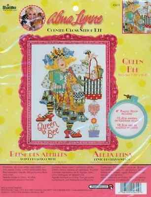 Bucilla Alma Lynne Counted Cross Stitch Kit  7-3/4-Inch by 10-1/2-Inch  Queen Be