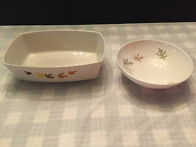 "2 FRANCISCAN PCS 1 - 8 1/4 INCH INDIAN SUMMER OVAL BOWL & 1-6"" Whirl-A-Gig Bowl"
