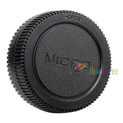 New Camera Body Cover+Lens Rear Cover Cap For Micro 4/3 M4/3 M 43 Olympus Lumix