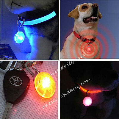 LED Light Blinker Night Flash Pet Dog Cat Puppy Safety Collar Tag Hi-Visibility