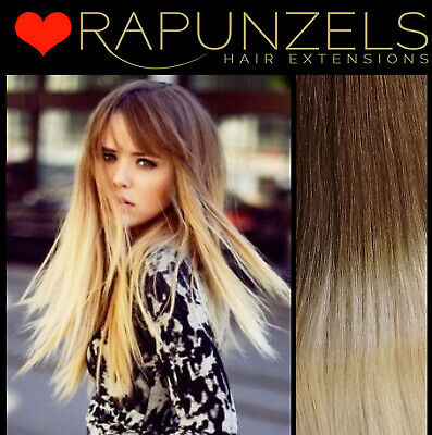 """20"""" Dip dye ombre hair extensions weave/weft, human remy half head, full head"""