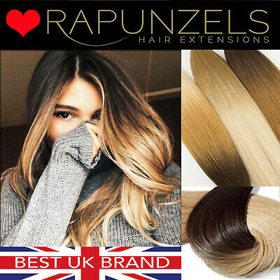 "20"" dip dye ombre clip in hair extensions DIY weave remy human hair extensions"