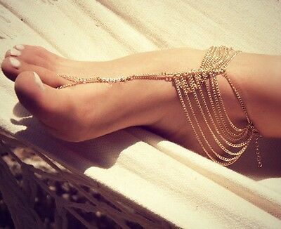 Tobillera Moda Mujer Multicapas Sexy Women Chain Anklet