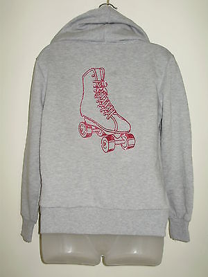 Roller SKATING  HOODIE Grey Girls SIZE 12 NEW-DS Designs