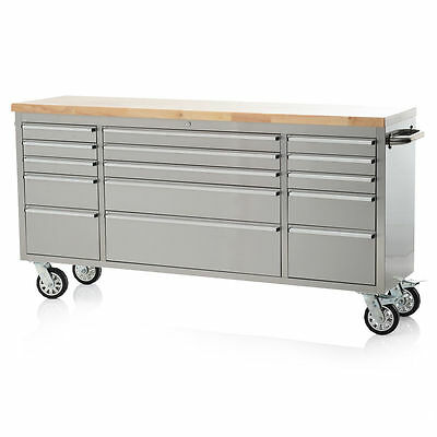 72 Stainless Steel Tool Box Chest 15 Drawer Brand New