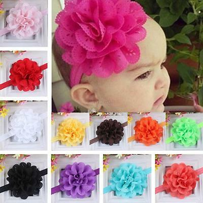 Candy Colors Infant Baby Girl Kids Sweet Lace Flower Headband Hair Band Headwear