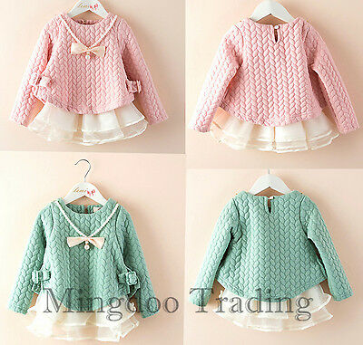 1PS baby Clothes Princess Winter TOP Thicken Warm girls Dresses for 18M -5 Years