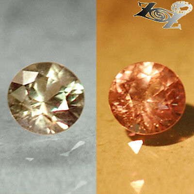 Flawless Natural Round 4 mm. Tanzania Pink Purple Color Change Garnet