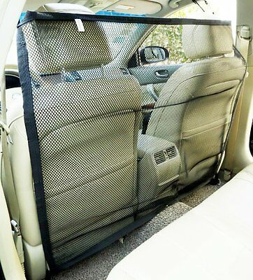 Zone Tech Vehicle Car Travel Pet Dog Car Back Seat Net Mesh Barrier 47x34""