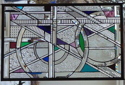 Stained Glass Window Hanging 30 1/2 X 19 1/2""