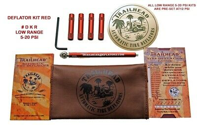 Trailhead Automatic Tire Deflator Kit 5-20 PSI for Jeep TrucK SUV  Red  DKR