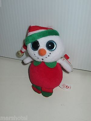 TY BEANIE BABY BEANIES MINI CHEERY THE SNOWMAN CHRISTMAS HOLIDAY PLUSH ORNAMENT