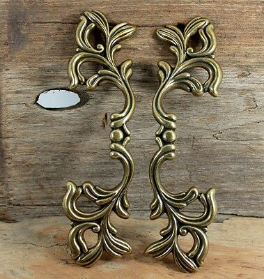 Set Of 2 Cast Iron Gold Head Door Gate Entry Pull  European Style  Handles  7 ""