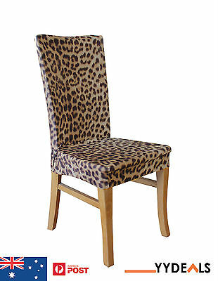 Sure Fit Dining Chair Slip Cover Armless Stretch Slipcovers - Leopard Print New