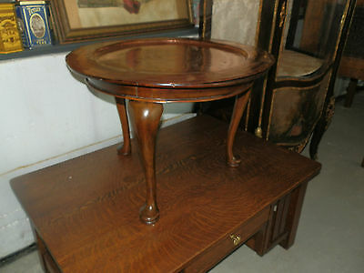 Gorgeous Victorian Table W/free Floating Copper Top