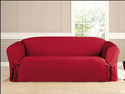 New Kashi Microsuede Slipcover Sofa Loveseat Chair Furniture Couch Cover Ruby