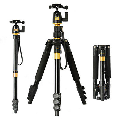 "Q-555 DSLR Camera Tripod + Ball Head Professional Portable Max: 55.9"" LF393*AM"