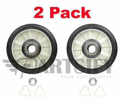 2 Pack *New* Ps347627 Dryer Drum Roller Kit Fits Whirlpool Kenmore Sears Roper