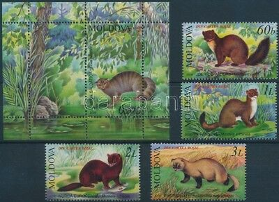 Moldavia stamp Red Book; animal set + block MNH 2006 Mi 559-562 + 36 WS158380