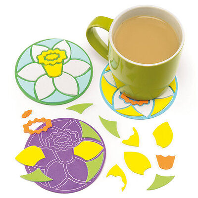 Daffodil Flower Mosaic Coaster Kits for Children (Pack of 6)