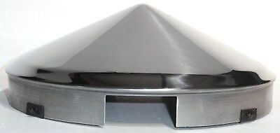 hub caps(2) front 4 even notch pointed cone SS for Freightliner aluminum wheel
