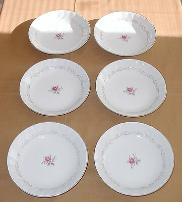 MS 109 Royal Swirl Coupe Soup Salad Dessert Bowls Set/6 Fine China of Japan