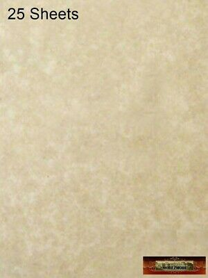 M00267 MOREZMORE Parchment Paper AGED 25 Sheets Heavy Certificate Blank T20A