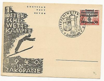 Germany Poland Scott #N41 Post Card Cover with Woodcut Cachet 1940