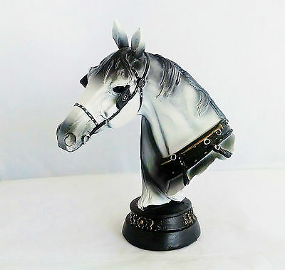 8 Inch Horse Bust Statue Animal Figurine Figure Collectible Wild Life Farm