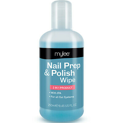 Mylee Prep + And Wipe Nail Gel Polish Cleanser Cleaner UV LED Manicure 250ml