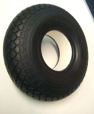 330x100 4.00-5 Black Solid Block Tread Mobility Scooter Tyre 400x5 No Punctures