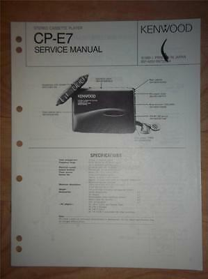 Kenwood Service Manual~CP-E7 Cassette Player~Original Repair Manual