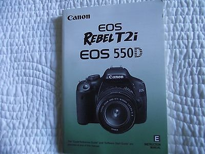 Canon Rebel T2i EOS 550D Instruction Manual