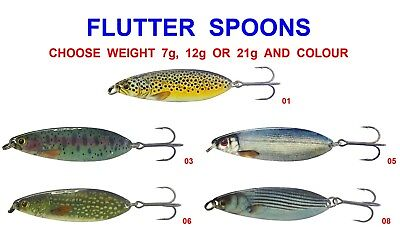 Original Flutter Spoons Game Coarse Fishing Salmon Trout Pike Spinning Rod Lures