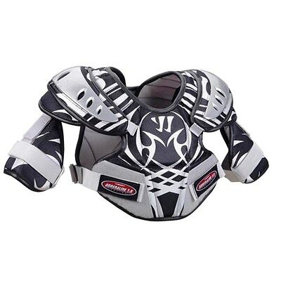 NWT Warrior Black/Gray Warrior Adrenaline 7.0 Lacrosse Shoulder Pads XS